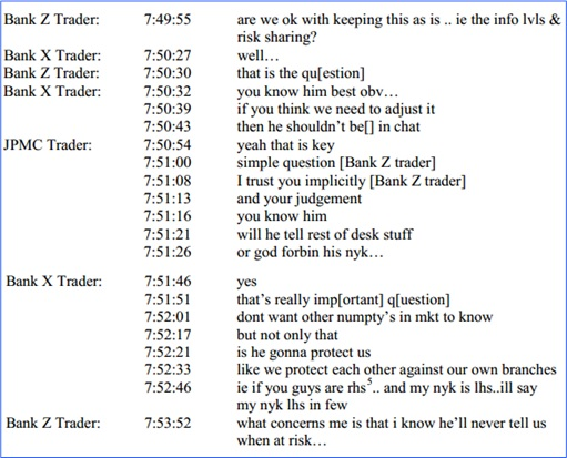 Foreign Exchange Scandal - Chatroom Conversation - 1