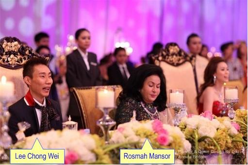Lee Chong Wei Wedding Dinner With Rosmah Mansor