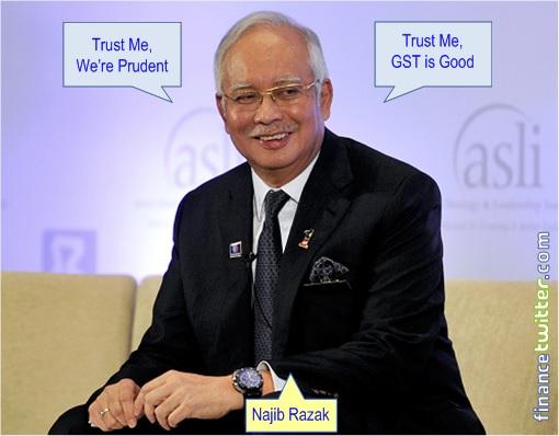 Najib Razak - Prudent and GST
