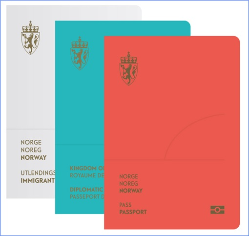 Norway New Passport Design - Three Colours