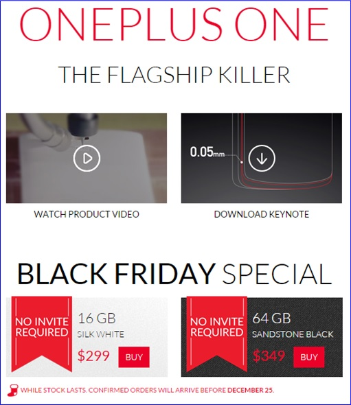 OnePlus One Smartphone - Promotion Without An Invite