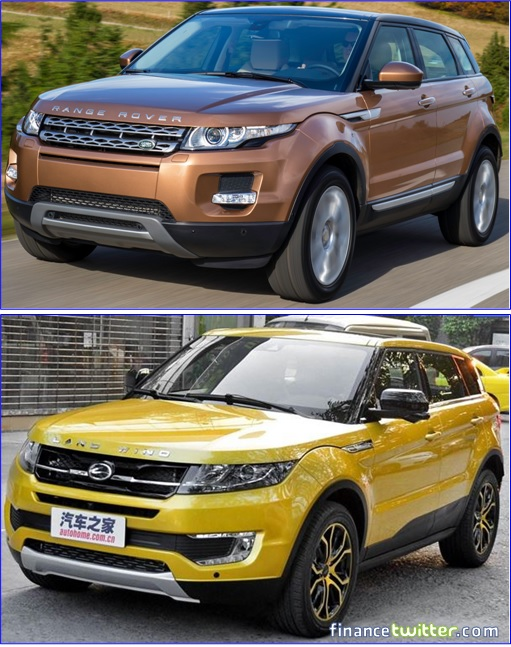 Range Rover Evoque and Land Wind - Side by Side Comparison
