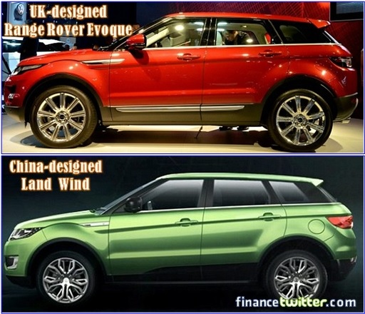 Range Rover Evoque and Land Wind - Side by Side
