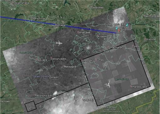 Russia Fake Photoshop Satellite Image - Superimposed on Google Earth