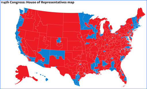 U.S. 2014 MidTerms Election - House of Representatives Map