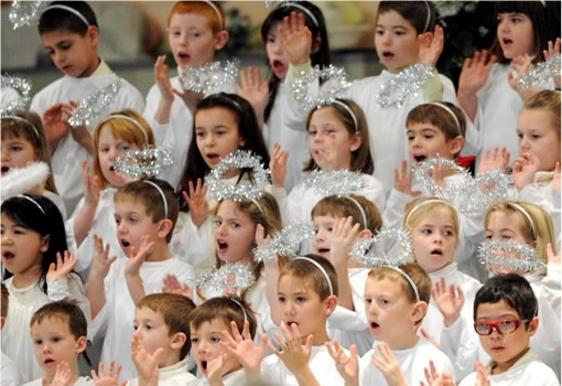 Children singing Christmas Song