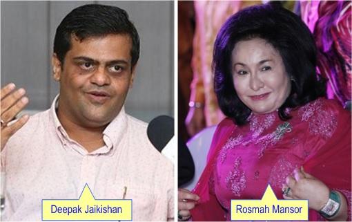 Deepak Jaikishan and Rosmah Mansor
