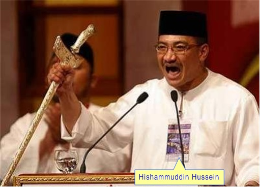 Hishammuddin Hussein with Keris
