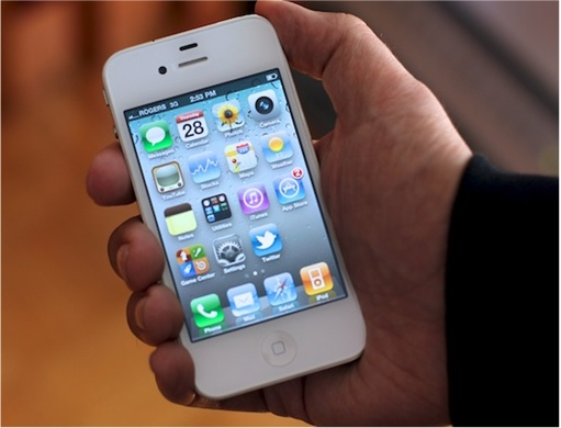 Holding iPhone 4