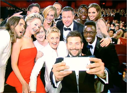 Hollywood Stars Selfie with Samsung