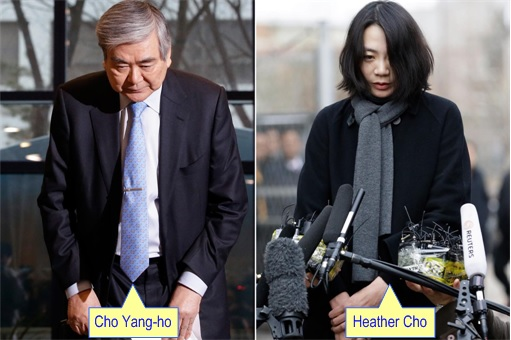 Korean Airline Chairman Cho Yang-Ho and daugher Heather Cho Apologise