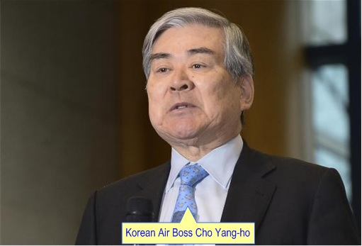 Korean Airline Chairman Cho Yang-Ho