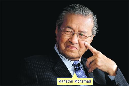 Mahathir Mohamad Staring