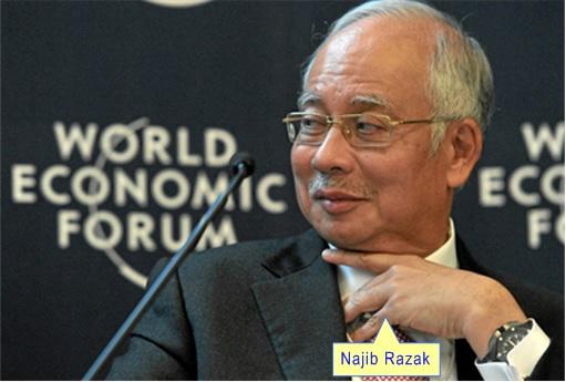 Najib Razak Staring