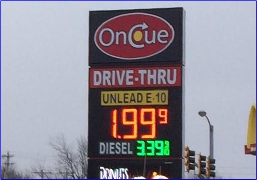 Oklahoma Gasoline Gas Station Below $2 A Gallon - Oncue Express station