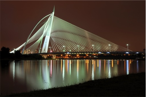 Putrajaya Bridge over Lake