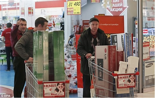 Ruble Tumbles - Russians Rushing to Buy Appliances