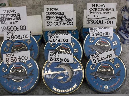 Russian Beluga Caviar in cans