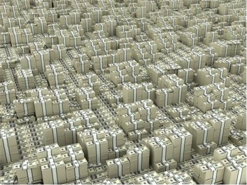 Stacks of US Dollars