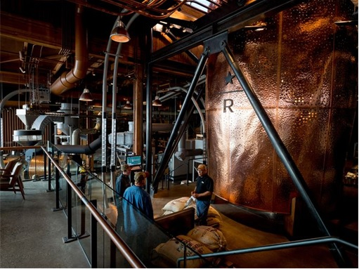 Starbucks Reserve Roastery - large container of coffee packaging