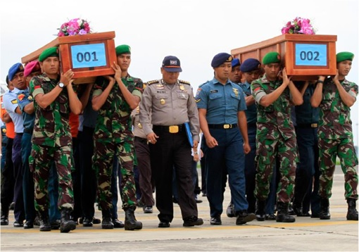 AirAsia Flight QZ8501 Tragedy - Soldiers Carrying Coffins