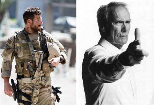 American Sniper - actor Bradley Cooper and director Clint Eastwood