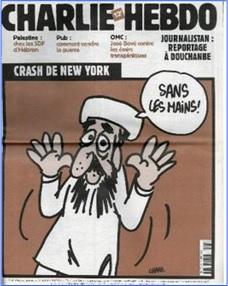Charlie Hebdo Controversial Cover - Look, No Hands (2001)