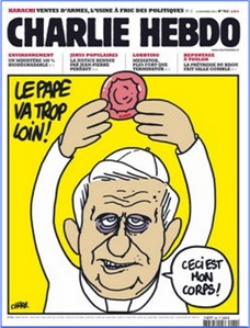 Charlie Hebdo Controversial Cover - Pope Goes Too Far (2010)
