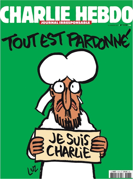 Charlie Hebdo First Cover Since Paris Attack - Muhammad