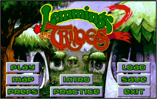 DOS Games - Lemmings Tribes 2