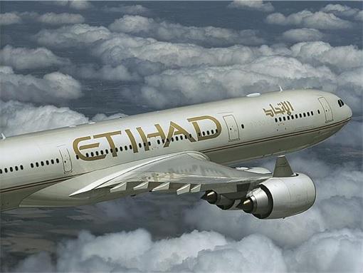 Etihad Airways in the Air