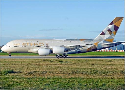 Etihad Airways on Runway