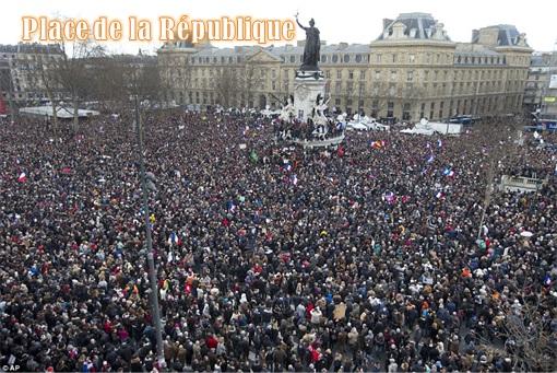 France Massive Rally - Crowds at Place de la République