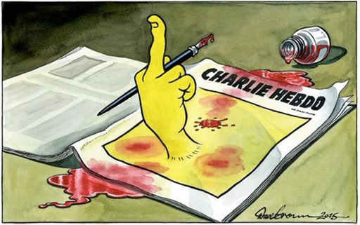 Je Suis Charlie Cartoons - Dave Brown