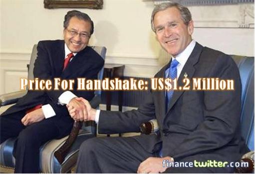 Mahathir Meets Bush - Price For Handshake