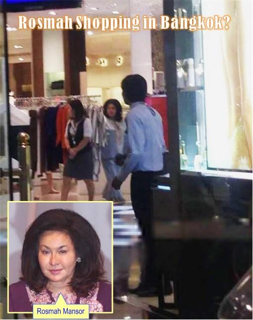 Malaysia in Flood - Rosmah Shopping in Bangkok