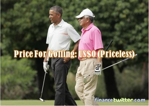 Najib Golfing With Obama - Price For Golfing