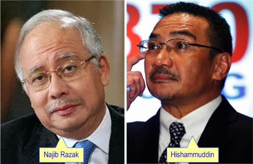 Najib Razak and Hishammuddin Hussein