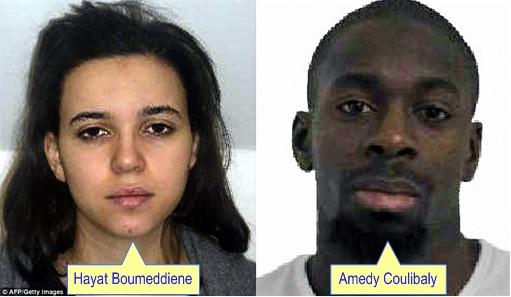 Paris Attack - Amedy Coulibaly and Hayat Boumeddiene photos