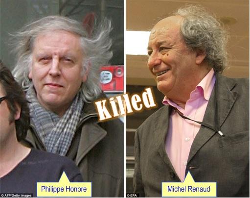 Paris Terror Attack -Cartoonists Killed - Philippe Honore and Michel Renaud
