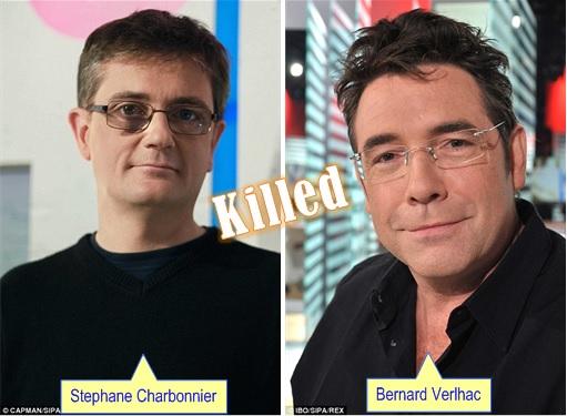 Paris Terror Attack -Cartoonists Killed - Stephane Charbonnier and Bernard Verlhac
