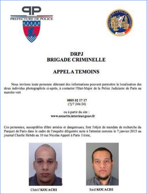 Paris Terror Attack - Cherif Kouachi and Said Kouachi Record