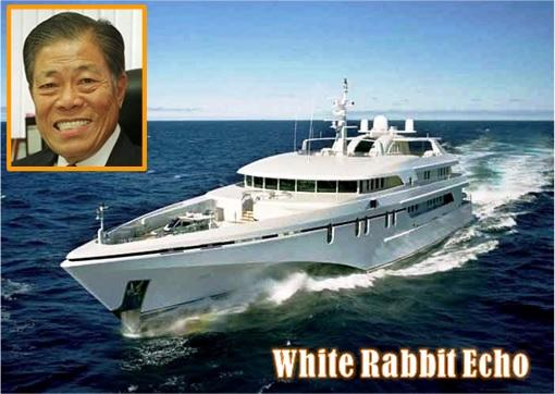 Singapore Billionaire Goh Cheng Liang Super Yacht White Rabbit Echo