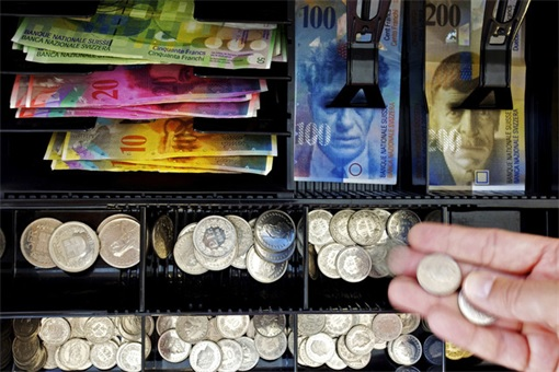 Swiss Scrapped Euro Peg - Swiss Franc Currency in Register