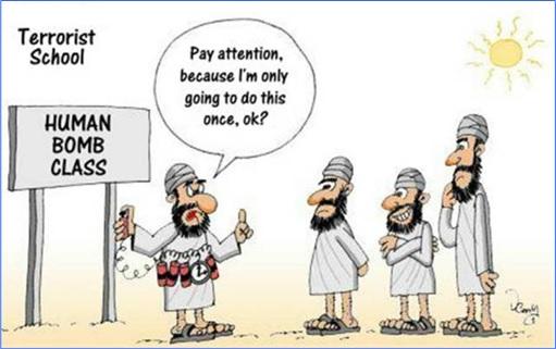 Terrorist Cartoon - Human Bomb Class