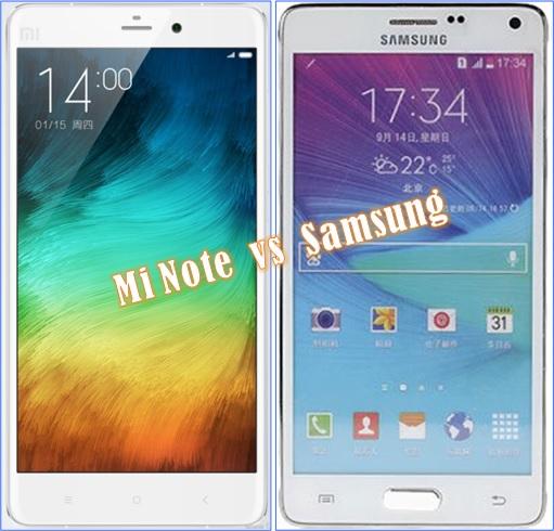 Xiaomi Mi Note - versus Samsung
