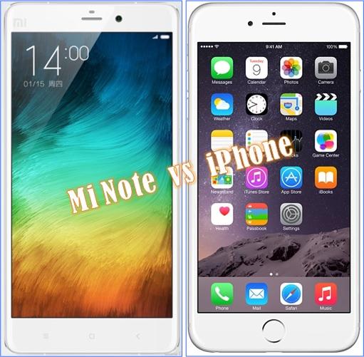 Xiaomi Mi Note - versus iPhone