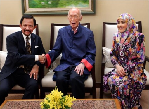 Lee Kuan Yew with Sultan of Brunei - Thin Photo