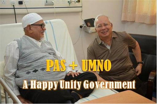PAS Hadi Awang and UMNO Najib Razak - Happy at Hospital