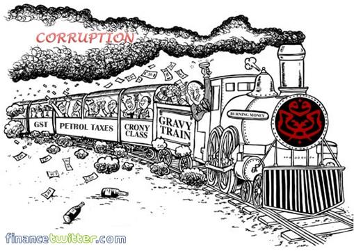 UMNO Gravy Train - Petrol Taxes - GST